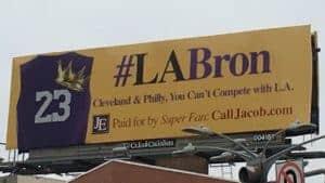 #labron billboard in cleveland