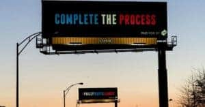 complete the process billboard in cleveland