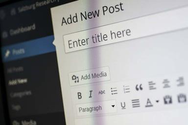 Wordpress blog content management system