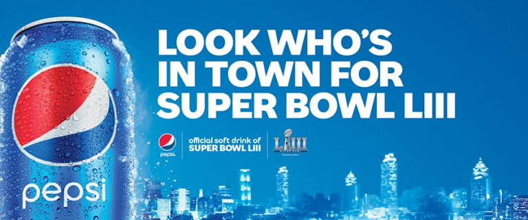Pepsi Atlanta Super Bowl Billboard Creative