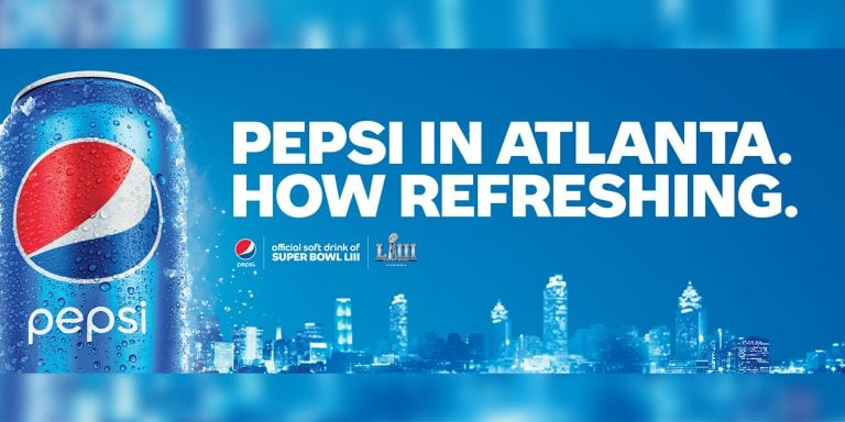 Atlanta Pepsi Super Bowl Billboard Creative