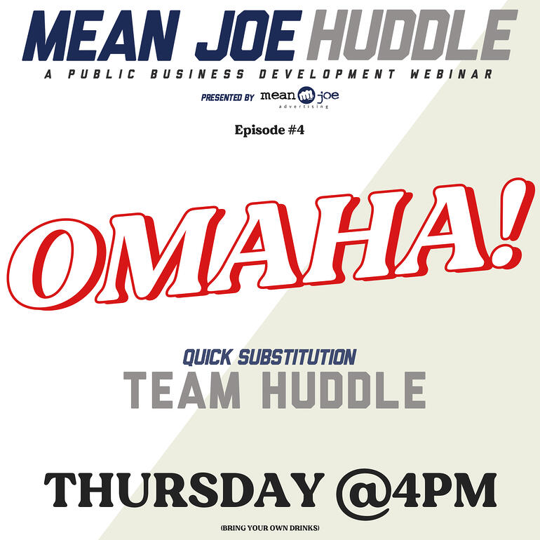 Mean Joe Huddle Happy Hour - Ep. 4 - Audible!