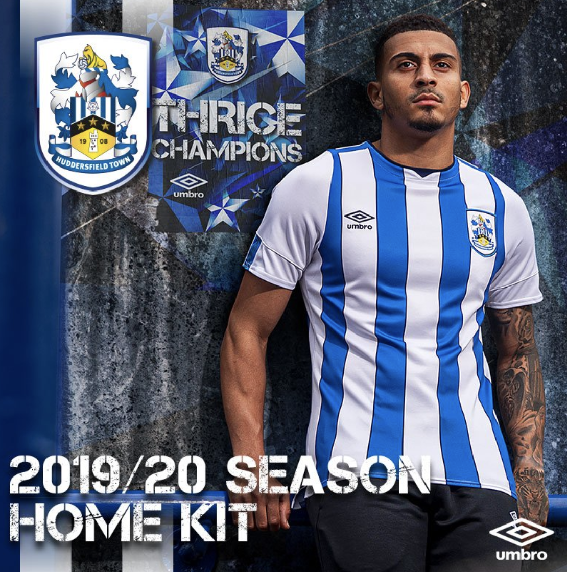 Huddersfield Town new home jersey for the 2019/2020 season